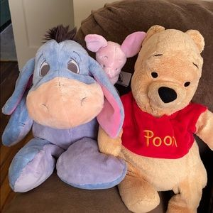 Winnie the Pooh and Eeore stuff animals